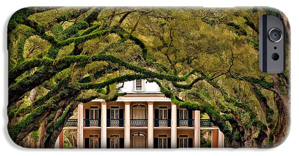 Oak Alley Plantation iPhone Cases - Southern Class painted iPhone Case by Steve Harrington