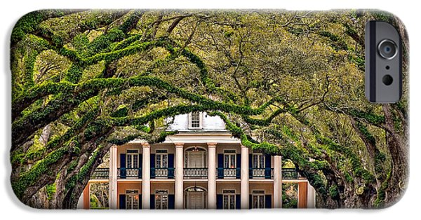 Oak Alley Plantation iPhone Cases - Southern Class iPhone Case by Steve Harrington