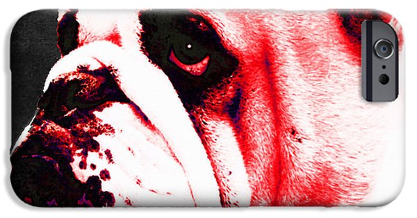 Bulls Mixed Media iPhone Cases - Southern Dawg By Sharon Cummings iPhone Case by Sharon Cummings