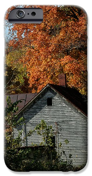 Southern Indiana iPhone Cases - Southern Indiana Fall iPhone Case by Jeff Lantz