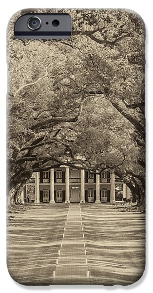 Overhang iPhone Cases - Southern Time Travel sepia iPhone Case by Steve Harrington
