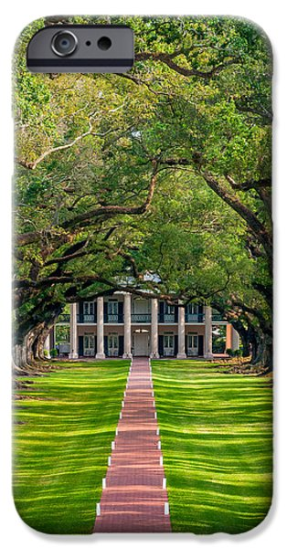 Oak Alley Plantation iPhone Cases - Southern Time Travel iPhone Case by Steve Harrington