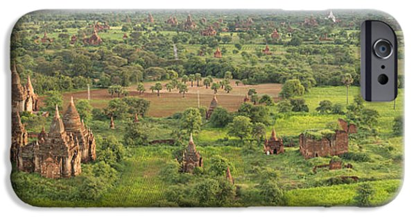 Buddhist iPhone Cases - Southern View Of Stupas Seen From Top iPhone Case by Panoramic Images