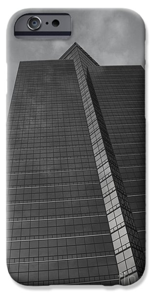 Architectur iPhone Cases - Southfield Hi Rise Black and White iPhone Case by Bill Woodstock
