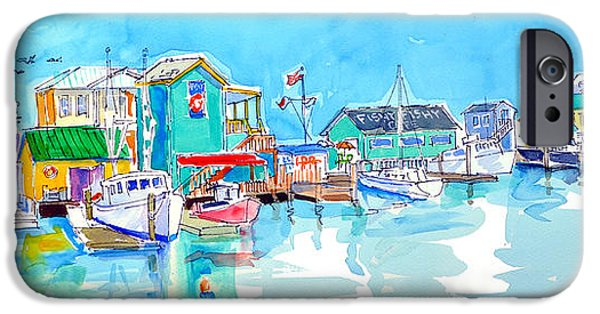Fourth Of July Paintings iPhone Cases - Southport at Noon iPhone Case by Susan Dade
