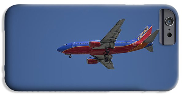 United Airlines Passenger Plane iPhone Cases - Southwest 01 iPhone Case by D Wallace