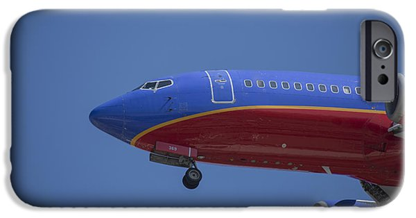 United Airlines Passenger Plane iPhone Cases - Southwest 03 iPhone Case by D Wallace