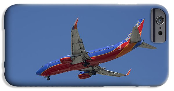 United Airlines Passenger Plane iPhone Cases - Southwest 04 iPhone Case by D Wallace