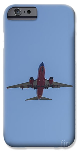 United Airlines Passenger Plane iPhone Cases - Southwest 06 iPhone Case by D Wallace
