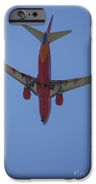 United Airlines Passenger Plane iPhone Cases - Southwest 07 iPhone Case by D Wallace