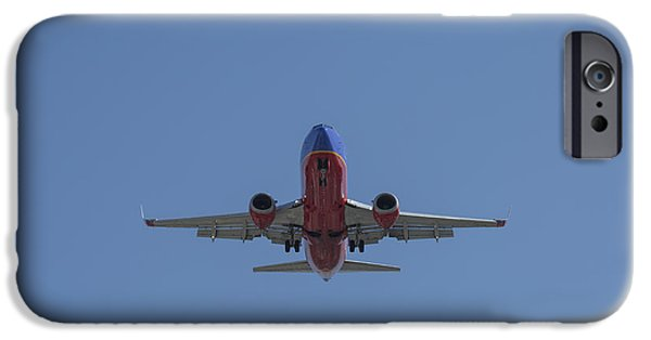 United Airlines Passenger Plane iPhone Cases - Southwest 08 iPhone Case by D Wallace