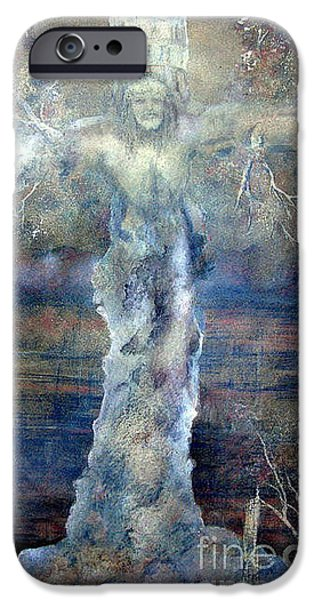 Tree Print Pastels iPhone Cases - Southwest Art Las Cruces New Mexico iPhone Case by Alberto Thirion