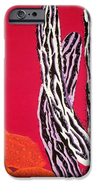Zebra Prints iPhone Cases - Southwest Contemporary Art - The Wild Wild West iPhone Case by Karyn Robinson