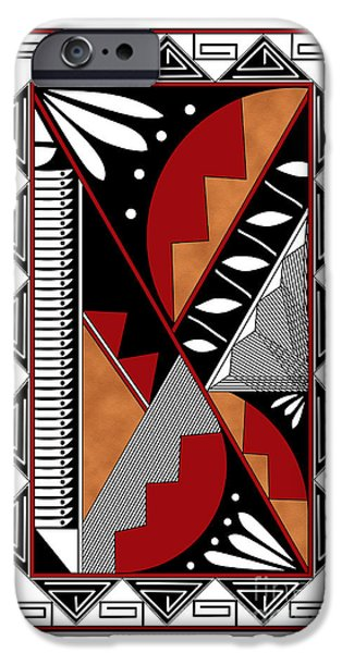 Hightower iPhone Cases - Southwest Collection - Design Seven in Red iPhone Case by Tim Hightower