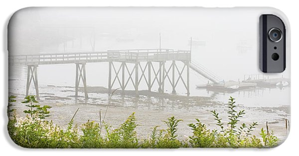 Down East iPhone Cases - Southwest Harbor - Foggy Weather - Mount Desert Island - Maine iPhone Case by Keith Webber Jr