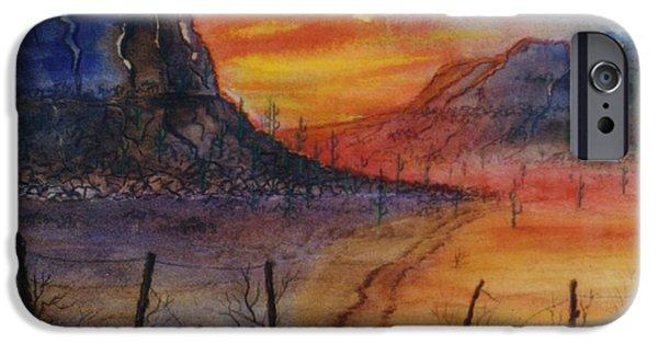 Arizonia iPhone Cases - Southwest Sunrise iPhone Case by Don Hand