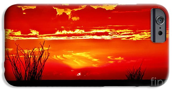 Sublime iPhone Cases - Southwest Sunset iPhone Case by Robert Bales