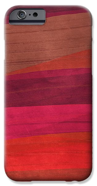 Southwestern Sunset Abstract iPhone Case by Bonnie Bruno