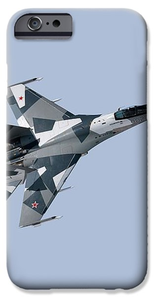 Soviet Aggression Su-27 April 2014 iPhone Case by L Brown
