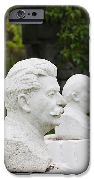 Politician Photographs iPhone Cases - Soviet-era Sculptures Of Vladimir Lenin iPhone Case by Panoramic Images