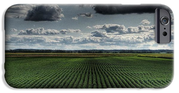 Field. Cloud iPhone Cases - Soy Beans iPhone Case by Jane Linders