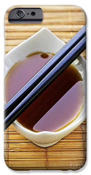 Soy sauce with chopsticks iPhone Case by Elena Elisseeva