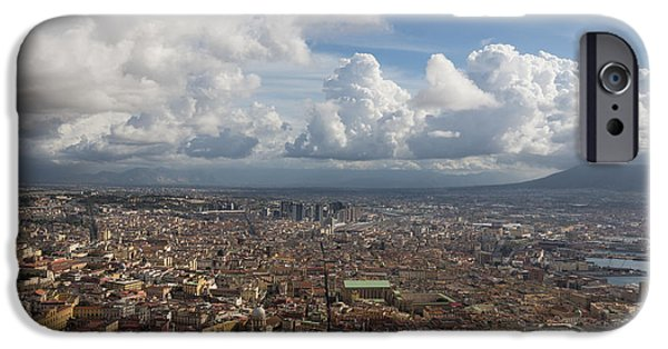 Turbulent Skies iPhone Cases - Spaccanapoli - the Historic Main Street That Divides the Center of Naples Italy iPhone Case by Georgia Mizuleva
