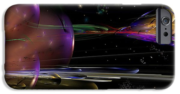 Abstract Digital iPhone Cases - Space Abstraction iPhone Case by David Lane