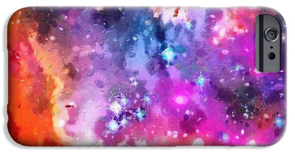 Outer Space Paintings iPhone Cases - Space beauty iPhone Case by Magomed Magomedagaev