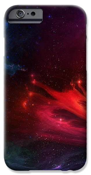 Space Cat Angel - 1 iPhone Case by Julie Turner
