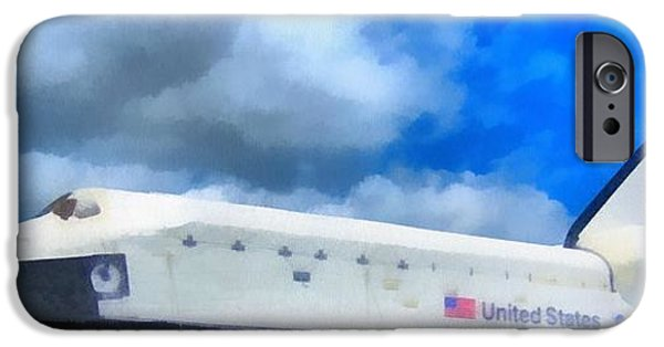Technology Paintings iPhone Cases - Space Center Houston Nasa iPhone Case by Dan Sproul