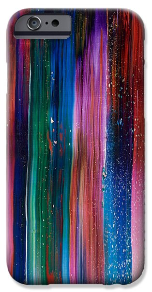Intergalactic Space Paintings iPhone Cases - Space iPhone Case by Chad Mars
