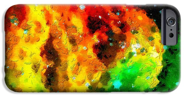 Outer Space Paintings iPhone Cases - Space clouds transitition iPhone Case by Magomed Magomedagaev
