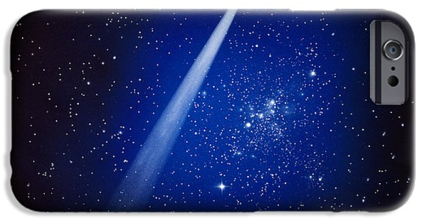 Comets iPhone Cases - Space, Comet And Stars iPhone Case by Panoramic Images