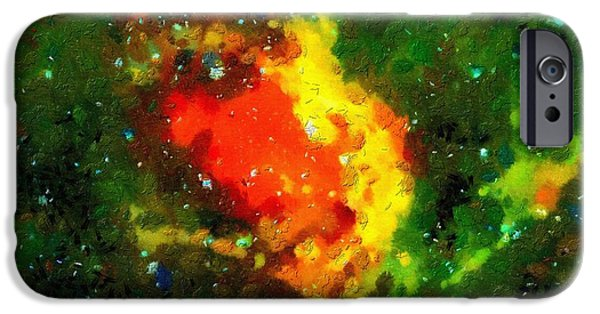 Outer Space Paintings iPhone Cases - Space landscape iPhone Case by Magomed Magomedagaev