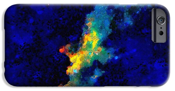 Outer Space Paintings iPhone Cases - Space objects iPhone Case by Magomed Magomedagaev