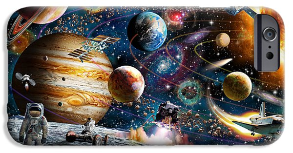 Space-craft iPhone Cases - Space Odyssey iPhone Case by Adrian Chesterman