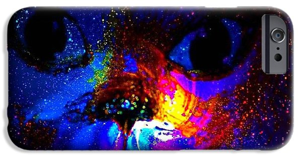 Etc. Digital Art iPhone Cases - Space Out iPhone Case by HollyWood Creation By linda zanini