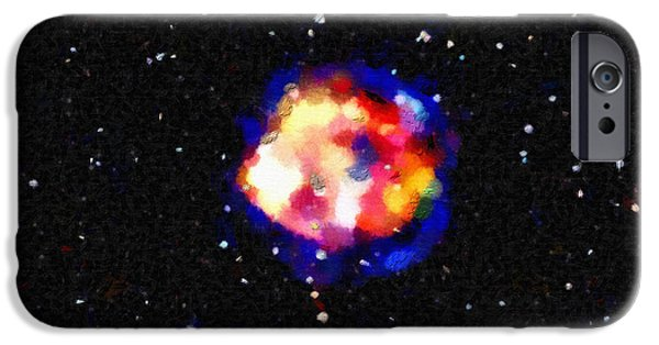Outer Space Paintings iPhone Cases - Space rainbow iPhone Case by Magomed Magomedagaev