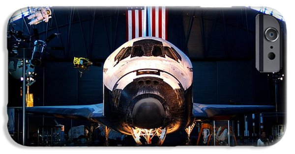 Smithsonian iPhone Cases - Space Shuttle Discovery iPhone Case by Patti Whitten