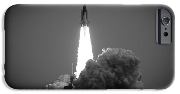 Launching System iPhone Cases - Space Shuttle launching iPhone Case by Celso Diniz