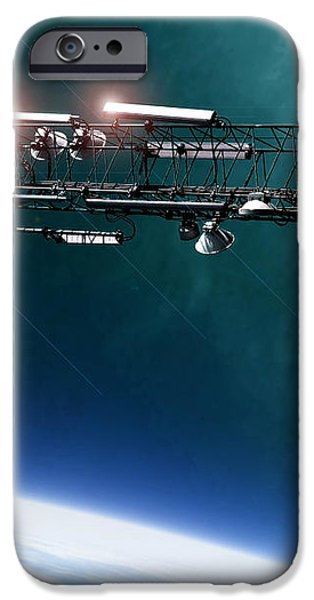 space station communications antenna iPhone Case by Antony McAulay