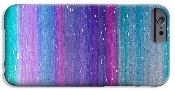 Intergalactic Space Paintings iPhone Cases - Space Teture iPhone Case by Chad Mars
