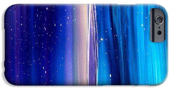 Intergalactic Space Paintings iPhone Cases - Space Texture iPhone Case by Chad Mars