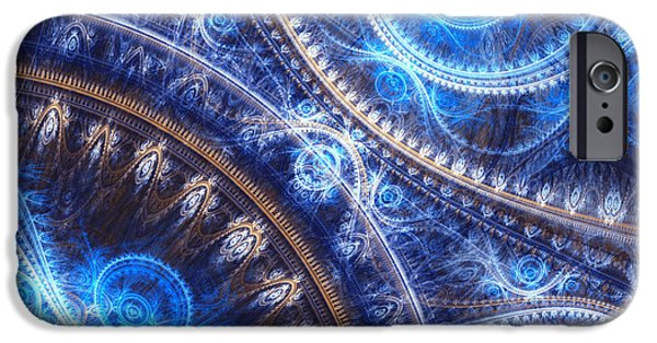 Machinery iPhone Cases - Space-time mesh iPhone Case by Martin Capek