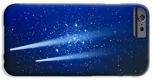 Comets iPhone Cases - Space, Two Comets iPhone Case by Panoramic Images
