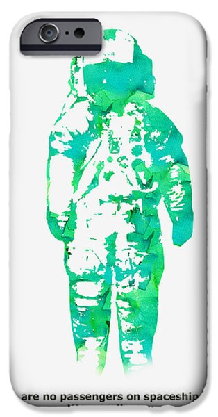 Astronaut iPhone Cases - Spaceship earth iPhone Case by Budi Satria Kwan
