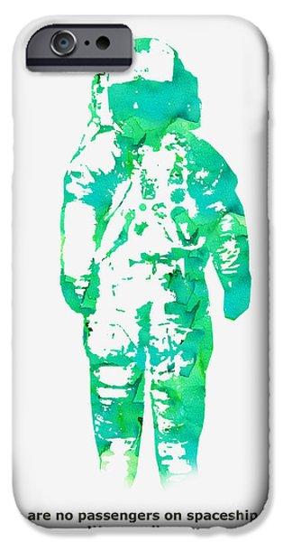 Earth Digital Art iPhone Cases - Spaceship earth iPhone Case by Budi Satria Kwan
