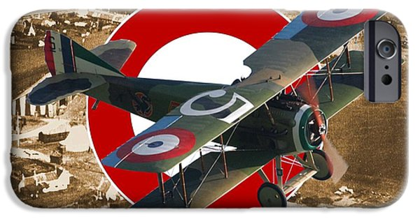 Wwi iPhone Cases - SPAD S.XIII A Century of Aerial Warfare iPhone Case by Michael Colclough