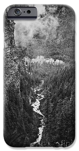 Creek iPhone Cases - Spahats Creek canyon in Wells Gray Provincial Park iPhone Case by Elena Elisseeva